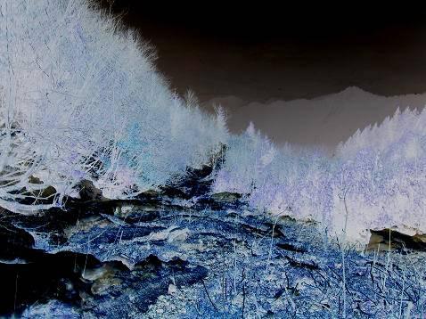 Slika s poti navzgor; z obrnjenimi barvami