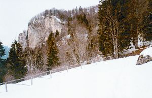 Blažčeva skala nad Dovjem Foto: Jože Praprotnik