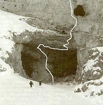 Nova smer - Ključ je prvi raztežaj, ki je vrisan - Foto Alešđ Laharnar