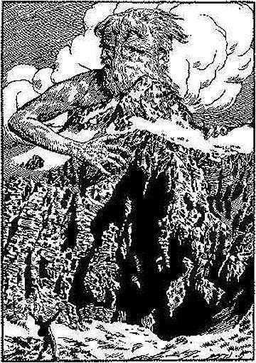 Saša Šantel je leta 1927 Triglav umetniško upodobil kot očaka