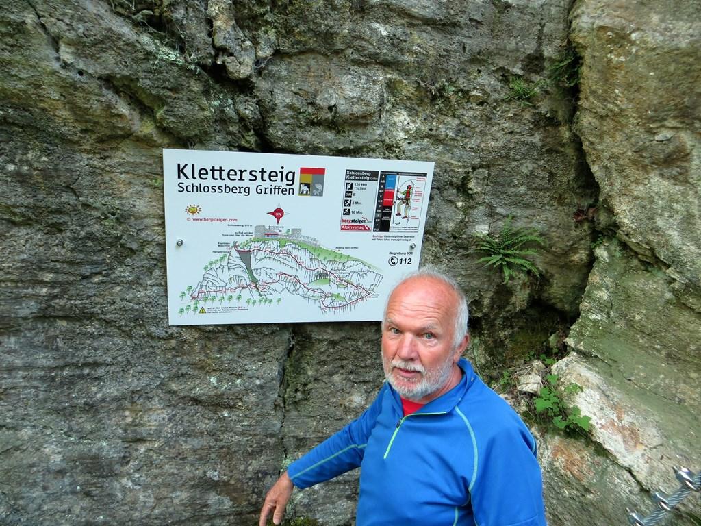 Klettersteig Griffen : Nova ferata gore ljudje